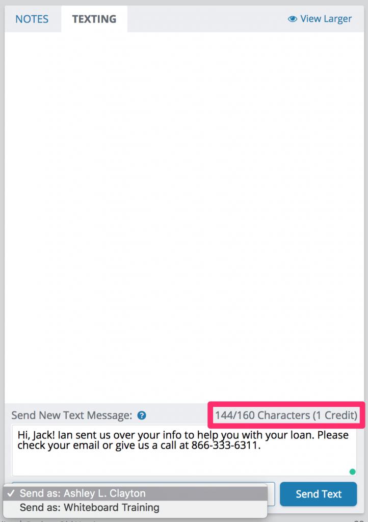 Texting - sending a text message